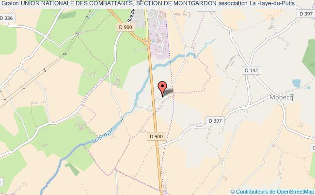 plan association Union Nationale Des Combattants, Section De Montgardon Montgardon