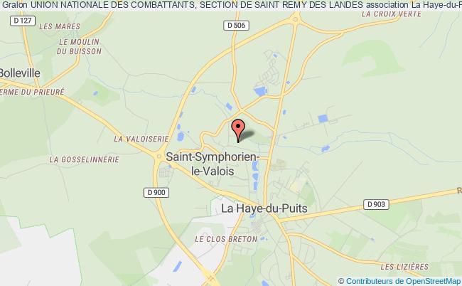 plan association Union Nationale Des Combattants, Section De Saint Remy Des Landes Saint-Rémy-des-Landes