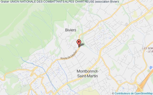 plan association Union Nationale Des Combattants Alpes Chartreuse Biviers