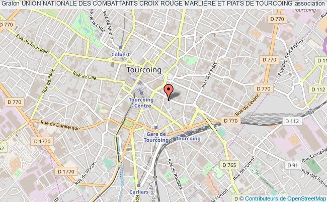 plan association Union Nationale Des Combattants Croix Rouge Marliere Et Piats De Tourcoing Tourcoing