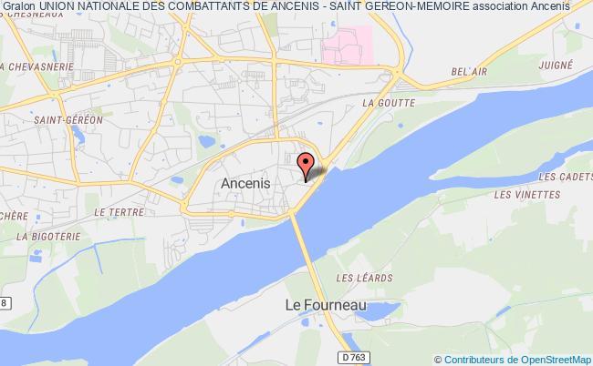 plan association Union Nationale Des Combattants De Ancenis - Saint Gereon