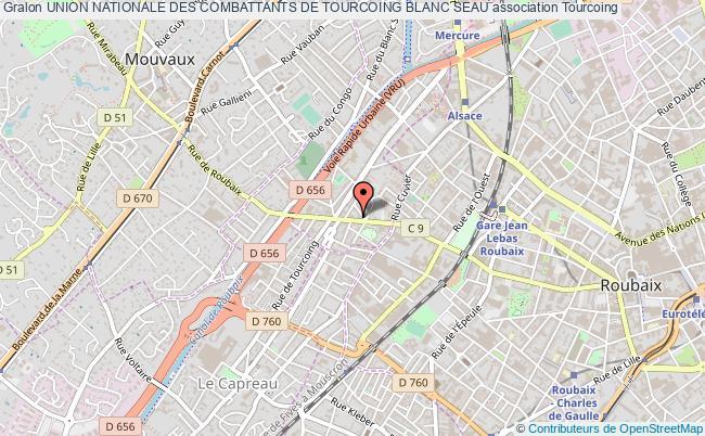 plan association Union Nationale Des Combattants De Tourcoing Blanc Seau Tourcoing