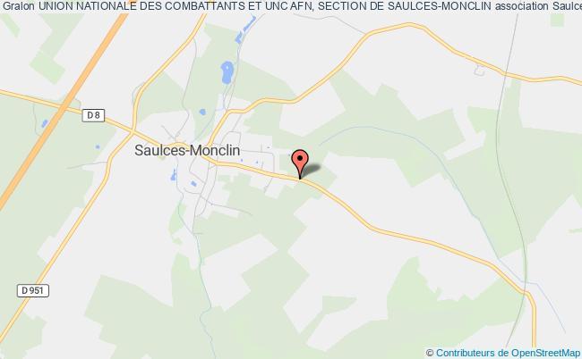 plan association Union Nationale Des Combattants Et Unc Afn, Section De Saulces-monclin