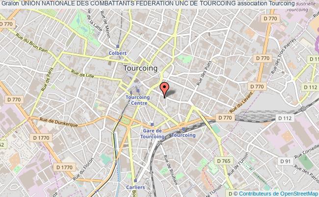 plan association Union Nationale Des Combattants Federation Unc De Tourcoing