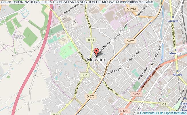 plan association Union Nationale Des Combattants Section De Mouvaux