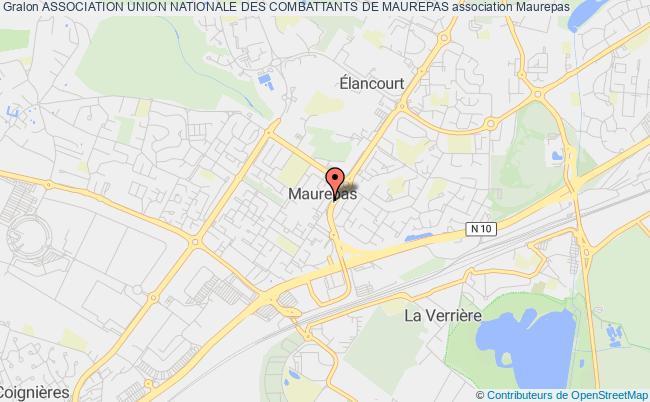 plan association Union Nationale Des Combattants Section Maurepas 78 Maurepas