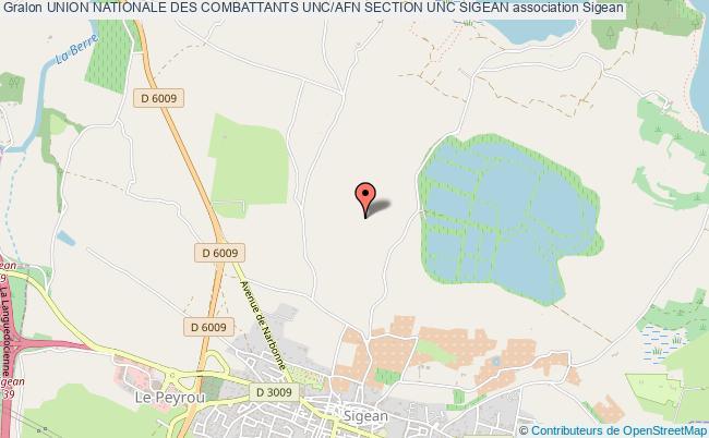 plan association Union Nationale Des Combattants Unc/afn Section Unc Sigean Sigean