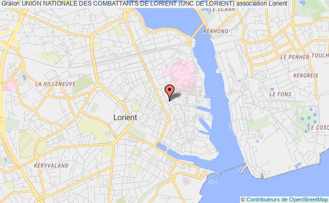 plan association Union Nationale Des Combattants (unc) Section De Lorient