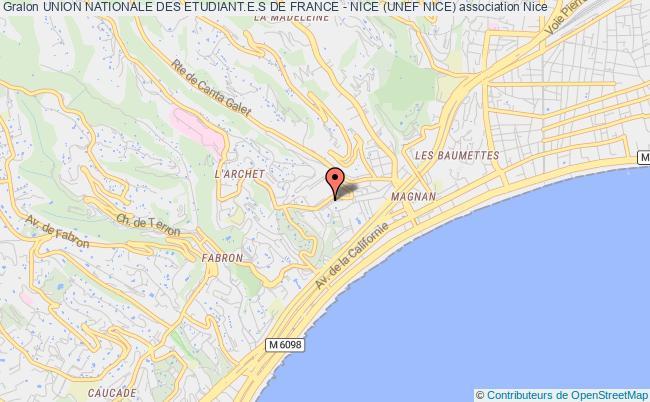 plan association Union Nationale Des Etudiant.e.s De France - Nice (unef Nice) Nice