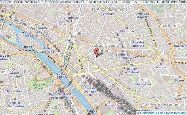 plan association Union Nationale Des Organisations De Sejours Longue Duree A L'etranger Unse Paris