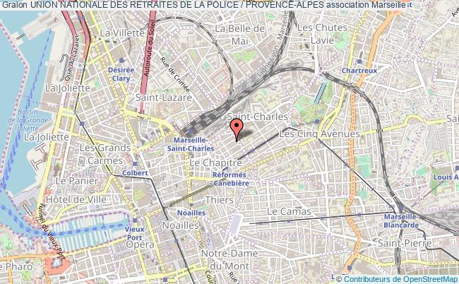plan association Union Nationale Des Retraites De La Police / Provence-alpes