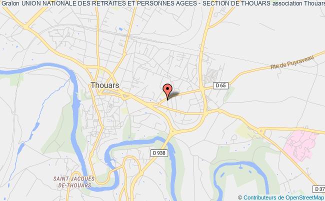 plan association Union Nationale Des Retraites Et Personnes Agees - Section De Thouars