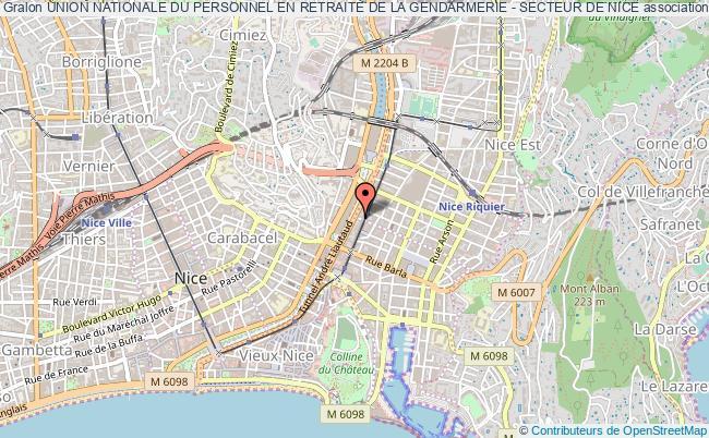 plan association Union Nationale Du Personnel En Retraite De La Gendarmerie - Secteur De Nice