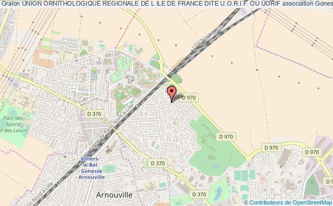 plan association Union Ornithologique Regionale De L Ile De France Dite U.o.r.i.f. Ou Uorif Gonesse