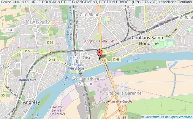 plan association Union Pour Le Progres Et Le Changement, Section France (upc France) Conflans-Sainte-Honorine