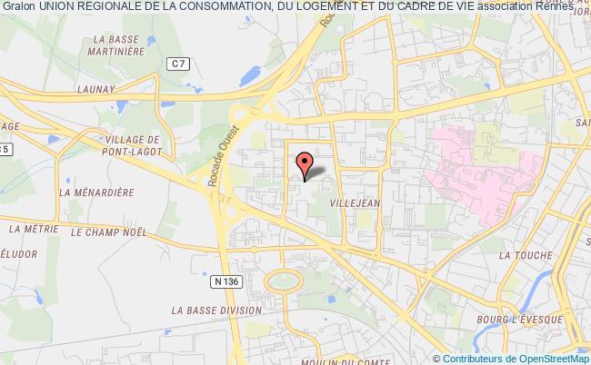 plan association Union Regionale De La Consommation, Du Logement Et Du Cadre De Vie Rennes