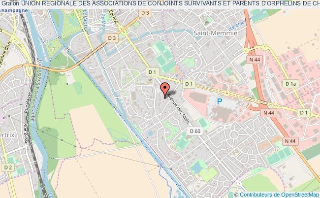 plan association Union Regionale Des Associations De Conjoints Survivants Et Parents D'orphelins De Champagne Ardenne