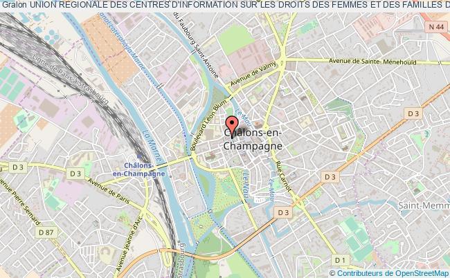 plan association Union Regionale Des Centres D'information Sur Les Droits Des Femmes Et Des Familles De  Champagne-ardenne