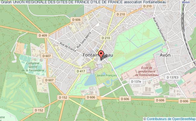 plan association Union Regionale Des Gites De France D?ile De France Fontainebleau