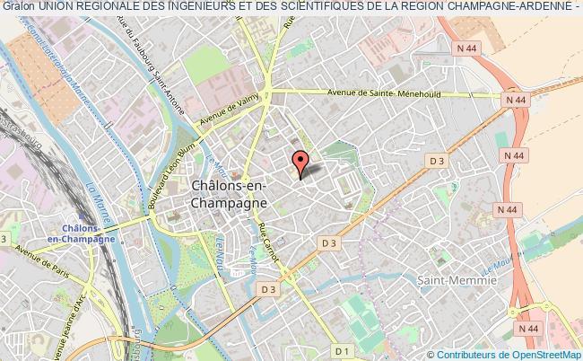 plan association Union Regionale Des Ingenieurs Et Des Scientifiques De La Region Champagne-ardenne - Uris Champagne Ardenne