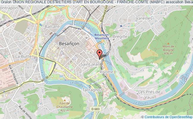 plan association Union Regionale Des Metiers D'art En Bourgogne - Franche-comte (mabfc)