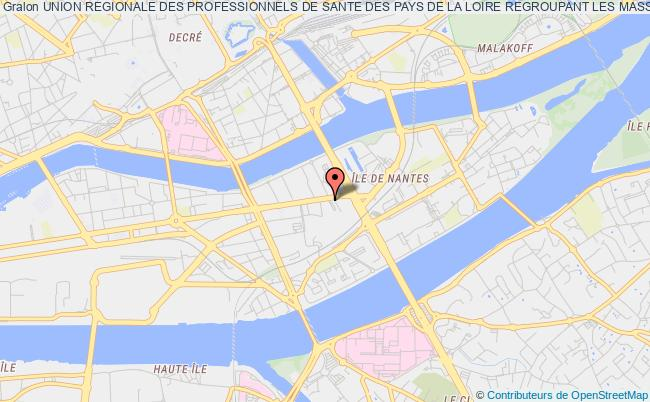 plan association Union Regionale Des Professionnels De Sante Des Pays De La Loire Regroupant Les Masseurs Kinesitherapeutes