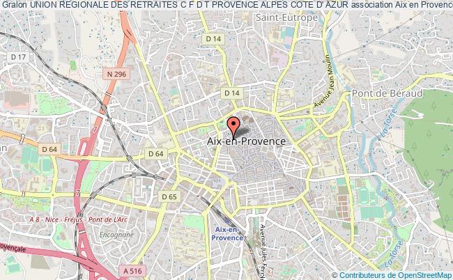 plan association Union Regionale Des Retraites C F D T Provence Alpes Cote D' Azur