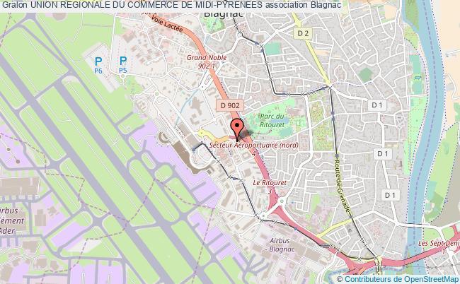 plan association Union Regionale Du Commerce De Midi-pyrenees
