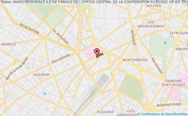 plan association Union Regionale Ile De France De L'office Central De La Cooperation A L'ecole Ur Idf Occe Paris