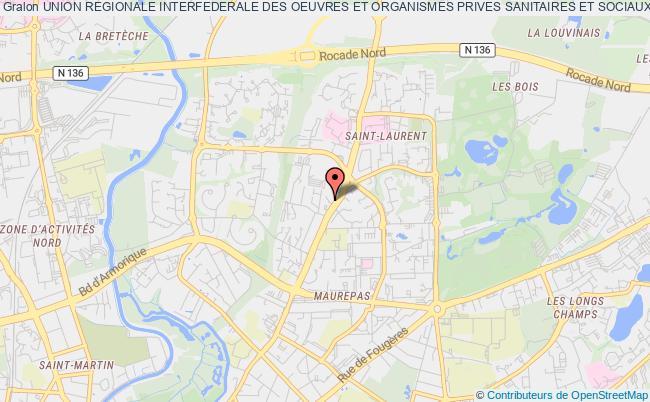 plan association Union Regionale Interfederale Des Oeuvres Et Organismes Prives Sanitaires Et Sociaux (u.r.i.o.p.s.s.)de La Region Bretagne