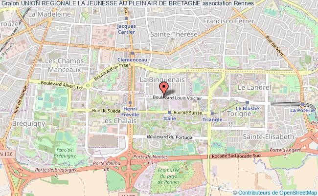 plan association Union Regionale La Jeunesse Au Plein Air De Bretagne Rennes