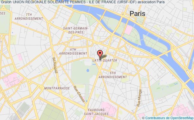 plan association Union Regionale Solidarite Femmes - Ile De France (ursf-idf) Paris
