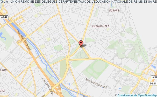 plan association Union Remoise Des Delegues Departementaux De L'education Nationale De Reims Et Sa Region