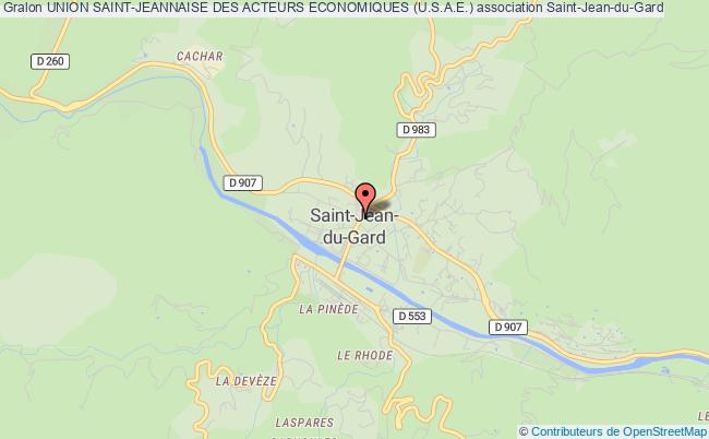 plan association Union Saint-jeannaise Des Acteurs Economiques (u.s.a.e.) Saint-Jean-du-Gard
