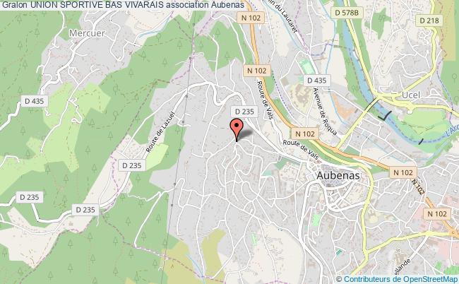 plan association Union Sportive Bas Vivarais