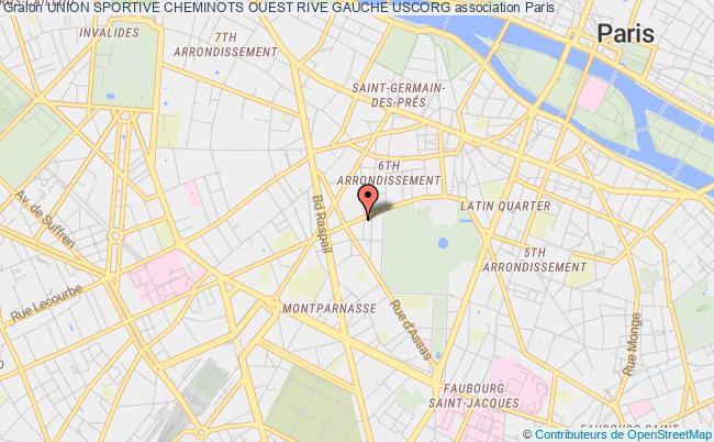 plan association Union Sportive Cheminots Ouest Rive Gauche Uscorg Paris
