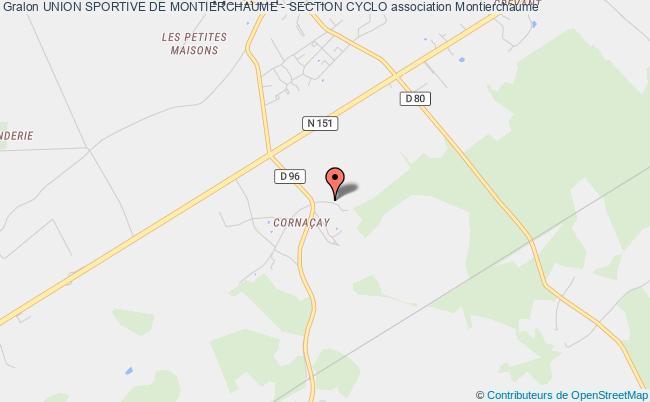 plan association Union Sportive De Montierchaume - Section Cyclo Montierchaume