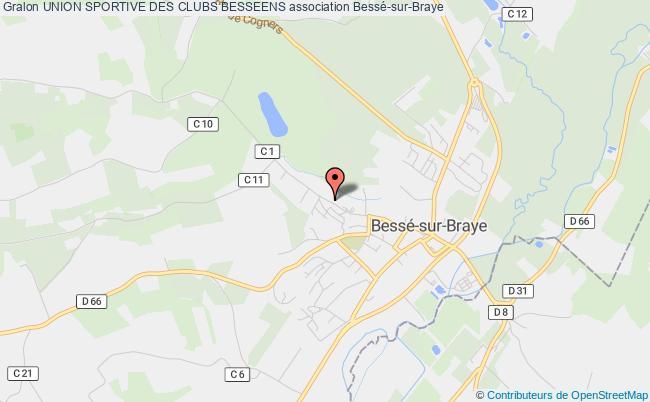 plan association Union Sportive Des Clubs Besseens Bessé-sur-Braye