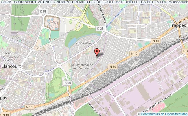 plan association Union Sportive Enseignement Premier Degre Ecole Maternelle Les Petits Loups Élancourt