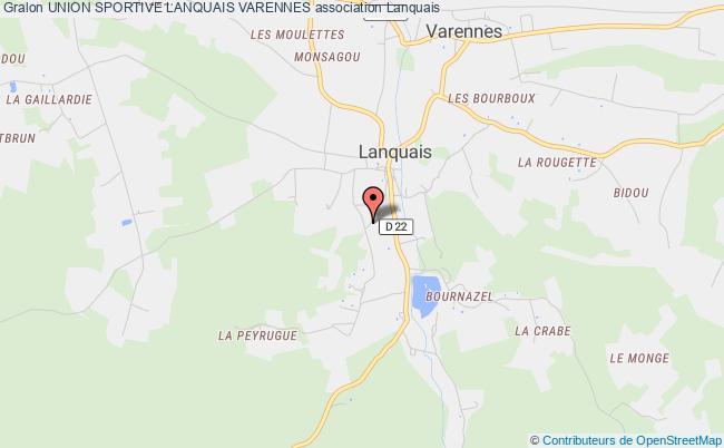 plan association Union Sportive Lanquais Varennes Lanquais
