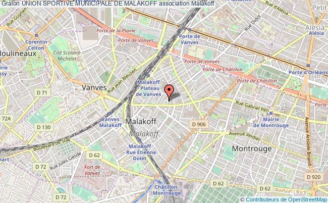 plan association Union Sportive Municipale De Malakoff Malakoff