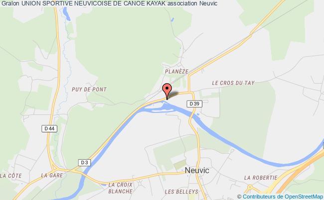 plan association Union Sportive Neuvicoise De Canoe Kayak Neuvic