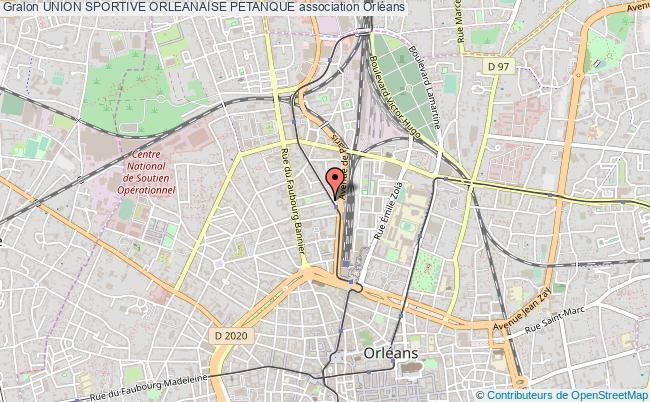 plan association Union Sportive Orleanaise Petanque