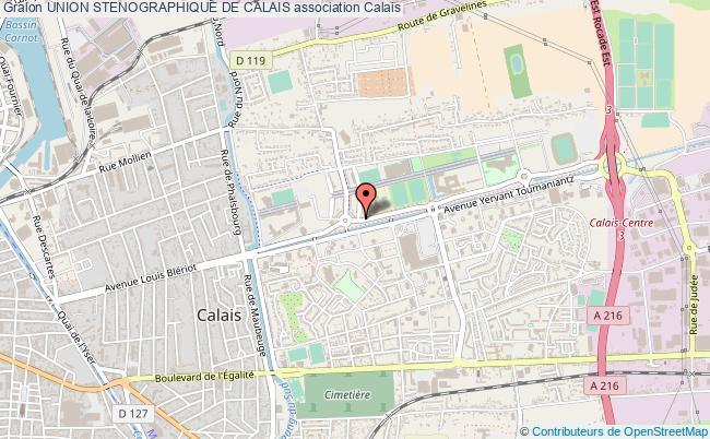 plan association Union Stenographique De Calais
