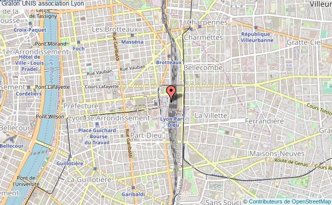 plan association Unis Lyon 3e Arrondissement