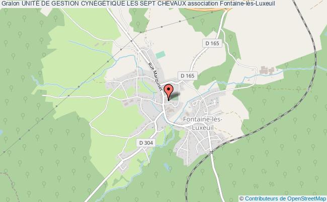 plan association UnitÉ De Gestion CynÉgÉtique Les Sept Chevaux