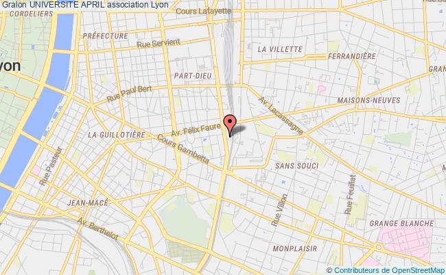 plan association Universite April Lyon