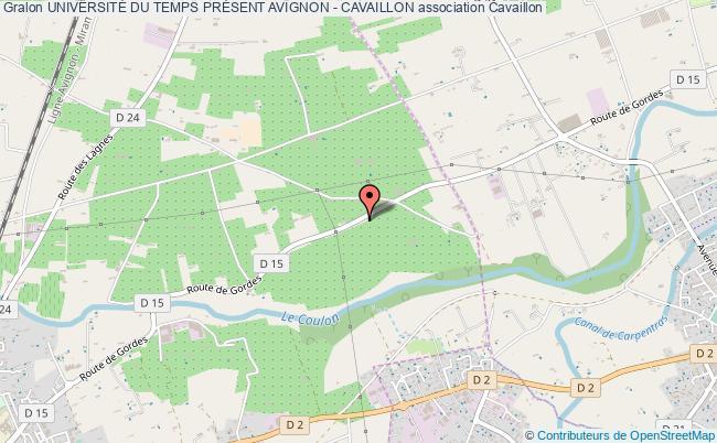 plan association UniversitÉ Du Temps PrÉsent Avignon - Cavaillon Cavaillon