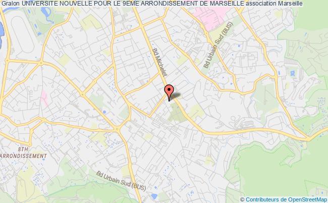 plan association Universite Nouvelle Pour Le 9eme Arrondissement De Marseille