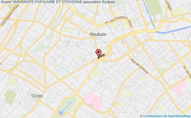 plan association Universite Populaire Et Citoyenne Roubaix